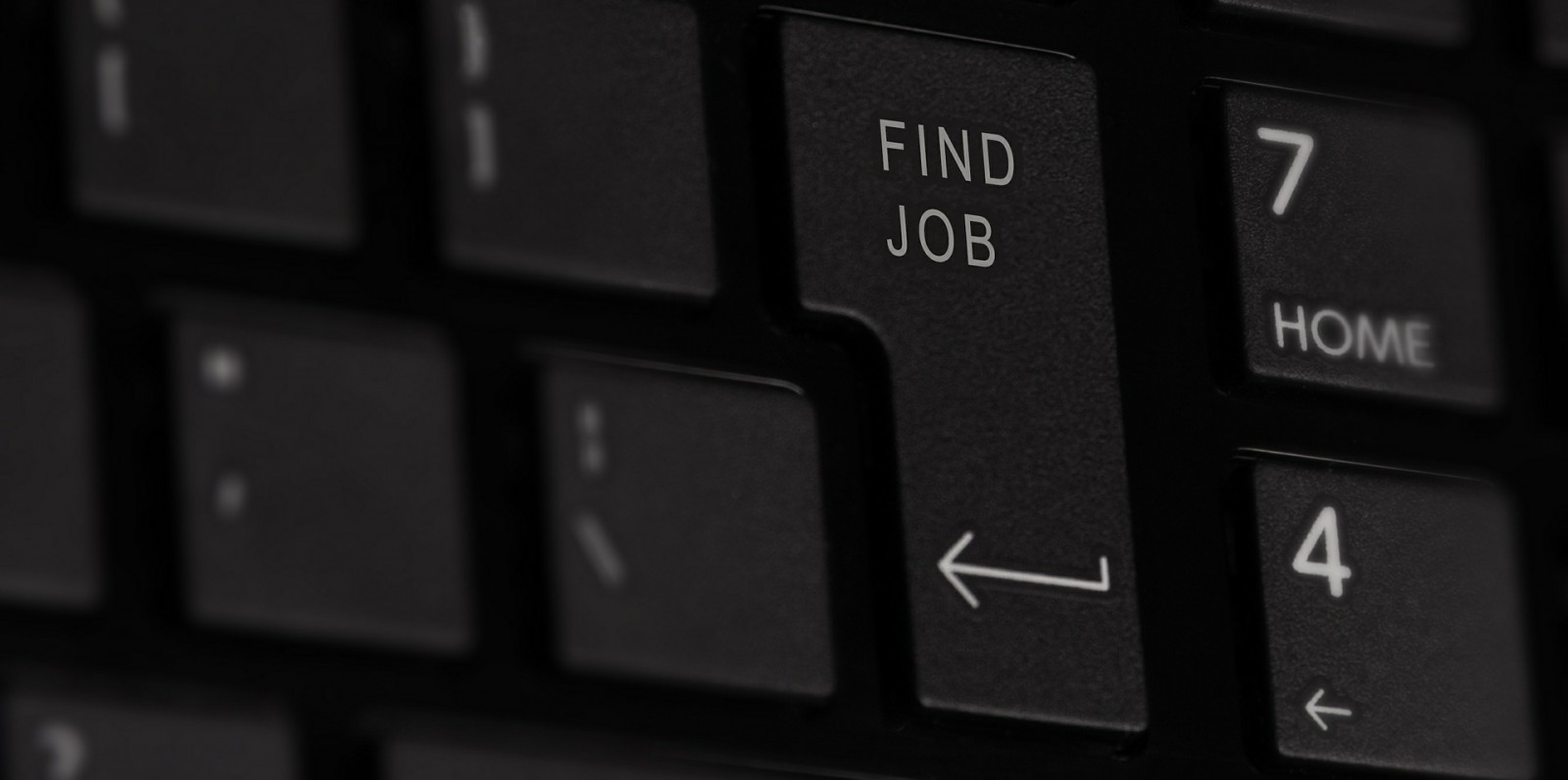 Keyboard with 'Find Job' key.